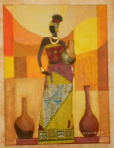 Cuadro africana acrilicos y foamy