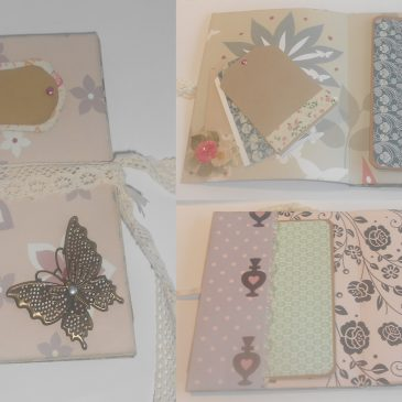 Mini álbum dos paginas scrapbooking.