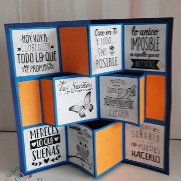 Tarjeta pop up. Flip Book Card