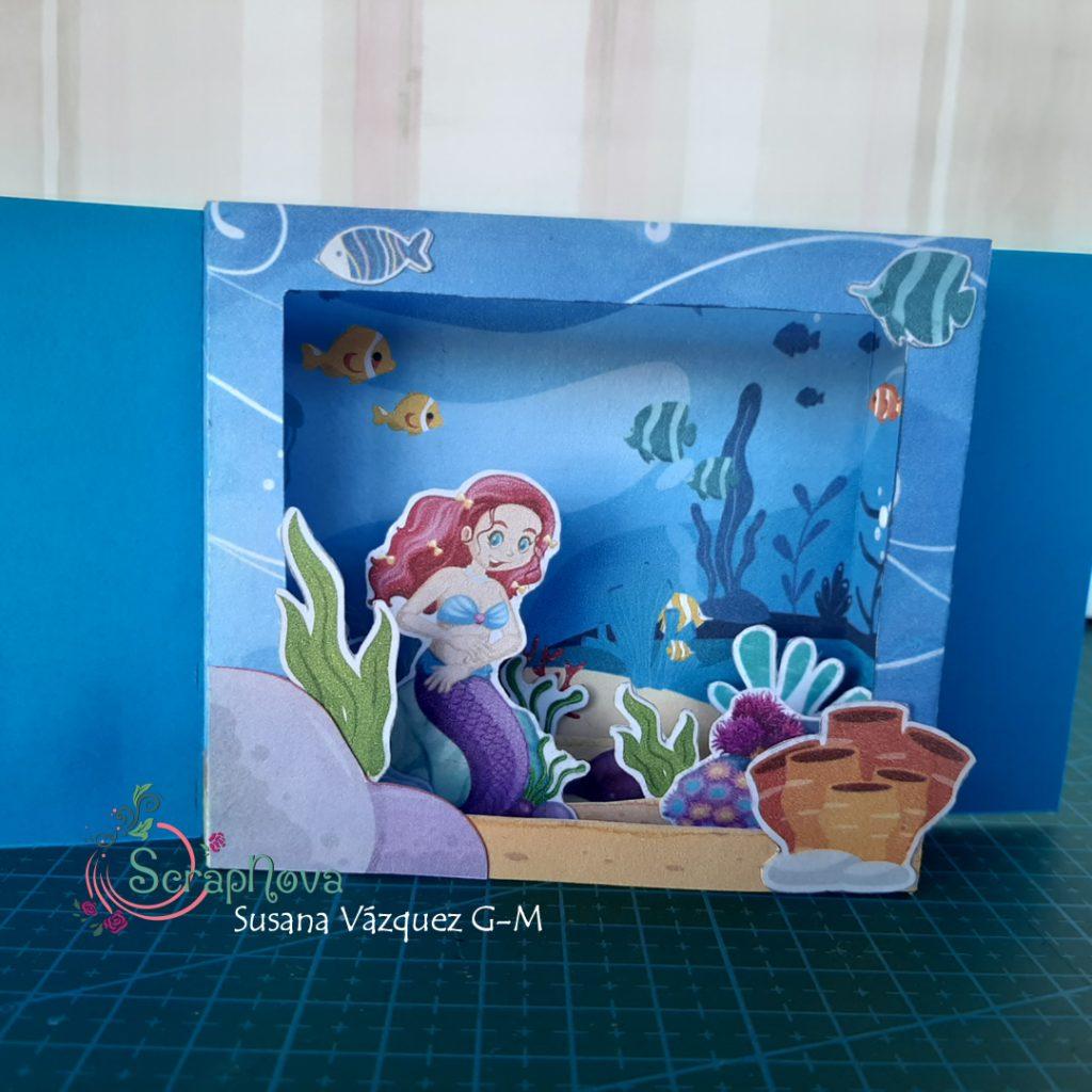 Interior de la tarjeta shadow box