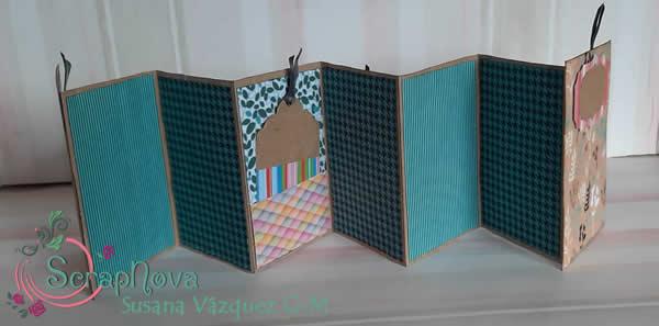 interior del mini álbum zig-zag