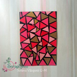Tarjeta con triángulos de papel